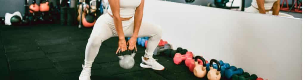 Strength equipment such as kettlebells, free weights, medicine balls, push-up bars, battle ropes.